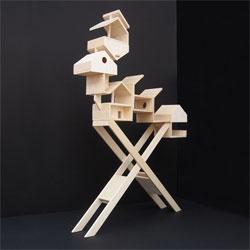 Not just a bird house - a bird apartment complex! Maxime Delporte's La Mangeoire project.