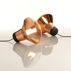 Tom Dixon has released his 2008/2009 collection, including this Blow floor light in his signature copper.