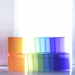 Christian Flindt's Rainbow chair - I love that he calls this the worlds first side-stacking chair.