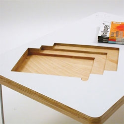 Sara Huston's Lifestyle Coffee Table - customized to store and display your favorite magazines.