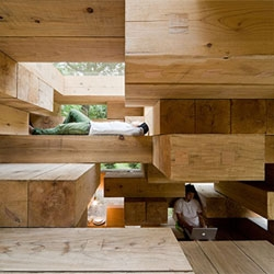 Sou Fujimoto Architects' amazing TINY Next Generation House in Japan - conceptually, a house made out of jenga blocks.