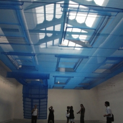 Textile architecture: the delicate installation by Do Ho Suh at the Architecture Biennale in Venice. Feeling blue.