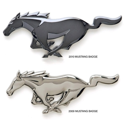 Ford redesigned the Mustang sculptural logo with some nice details.  The press release claims its actually more realistically proportioned as well.