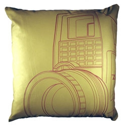 Kanibal Home's Vintage Camera Pillows.  Love the illustrations!