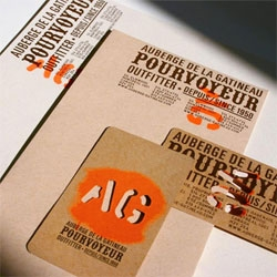 Love the guerrilla nature of Paprika's stationary for  Auberge de la Gatineau.