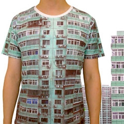 "Odd but interesting ""Skin of the City"" t-shirts by SQY-T."
