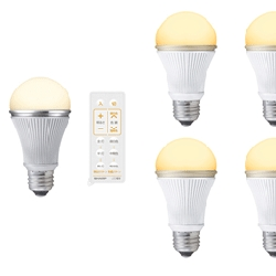 Sharp's new LED bulbs comes with a remote control that features a dimming function as well as the ability to select seven different shades of white… so your guests can never complain that they don't like the ambiance.