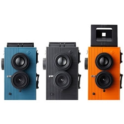 Japan's answer to the Lomo is the Blackbird, Fly - a split-frame camera from Superheadz that shoots square images on 35mm film. They are priced at $100 and will be available some time this month.