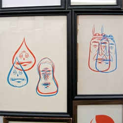 """New Lydia Fong - AKA Barry McGee - solo exhibition """"A Moment for Reflection"""" at Ratio 3 in San Francisco, until October 18."""