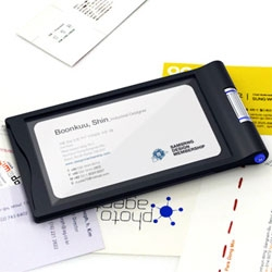B-Scanner by Sungwoo Park & Bongkun Shin. This is a handy little device I hope becomes more than just a prototype - it's a portable business card scanner and portable Rolodex...