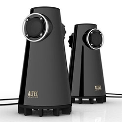 Expressionist Bass - nice looking desktop sub-woofers by Altec Lansing.
