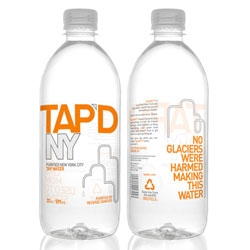 Tap'dNY is a bottled water for the new age: an honest and local alternative for all New Yorkers. They purify and bottle New York City's famous tap water, leaving out the malarkey and far journey included in other bottled waters.