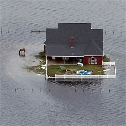 Amazing photographs of Hurricane Ike on Boston.com's The Big Picture.