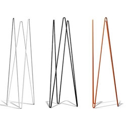 The WAW coat stand by Michael Bihain, made out of lacquered steel.