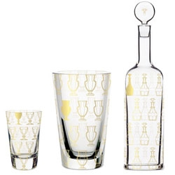 5.5 Designers redesigned Baccarat's luxury Harcourt glassware into a more accessible line. The traditional Harcout silhouettes have been superimposed onto simple glass forms.