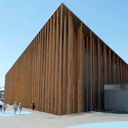 I love Francisco Mangado's spanish pavillion for the 2008 Zaragoza Expo. There were 750 clay columns that provide a modern take on greco-roman temple architecture.