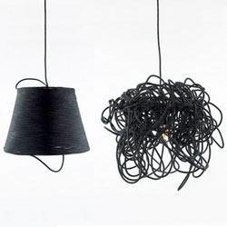 Thout's Spool Lamp and Scribble Lamp - they look like they belong together...