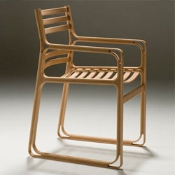I love the skeletal nature of this chair by Fumio Enomoto Atelier.