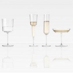 Enjoying the distorted forms of Michael Anastassiades Three Champagne Glasses and One Water Glass.