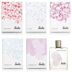 Elegant packaging by Concrete for Sula by Susanne Lang Parfumerie.