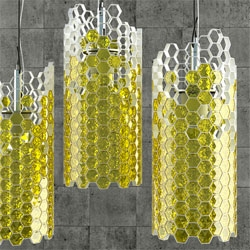 Yar Rassadin's Beehouse Lamp mimics the natural bee's building process with its semi-filled cellular structure.