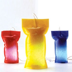 I love the playfulness of Perfectos Dragones' Bagu Lamp - so colorful and reminiscent of the lunch box drinks I enjoyed as a kid.