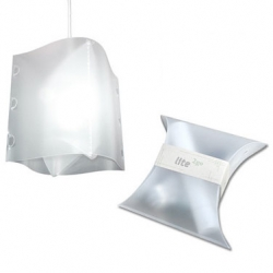 Knoend's Lite2go eliminates packaging waste by making the lamp shade itself the packaging.