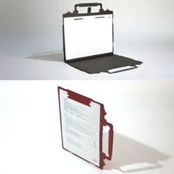 The versatile Paper Pack by MicroWorks - a folder cut from a single board that can be used as a file or a writing pad.