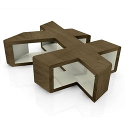 Interesting multi-faceted Table Cube by Ricardo Garza Marcos.