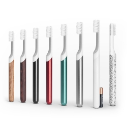 Toothbrush byDEFAULT, matches your modern lifestyle and brushing needs with subscription heads, smart vibration motors, customizable handles, hygienic travel mount cap.