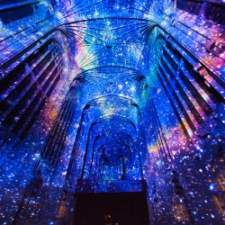 """Dear World… Yours, Cambridge"" - French artist Miguel Chevalier creates immersive projections in King's College Chapel, University of Cambridge"