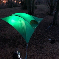 TENTSILE tree tents offer a unique way for you and your friends to experience the great outdoors, away from uncomfortable or uneven ground conditions, wetness, bugs and other creepies. Take your camping to a new level! Play, Camp, Explore..