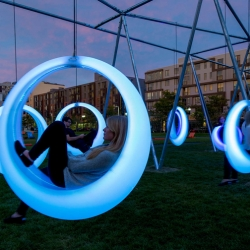 Swing Time installation by Höweler + Yoon Architecture, Boston
