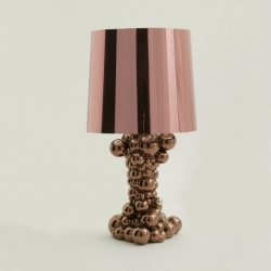 Ceramic bubbles shaped lamp base with glass shade.