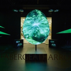 Iconic jewelry brand Fabergé commissioned creative agency Justso and Projection Artworks to develop an interactive, virtual egg for their pre-Easter campaign at Harrods.