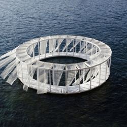 Antiroom II is a floating island on the sea of Malta, an unreachable surface from the ground, only accessible by swimming or by boat. By Elena Chiavi, Ahmad El Mad, Matteo Goldoni with students during the EASA Links 2015 workshop in Valletta (Malta)