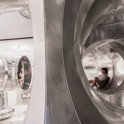 Lane Crawford, commissioned PAO, People's Architecture Office, to realize a series of installations that propose and demonstrate how Tubular Living can be adapted for the future.