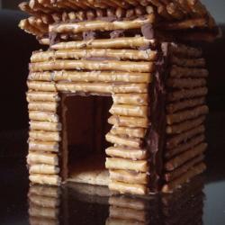 Tiny Modern Gingerbread House