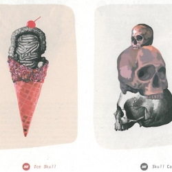 """Pop Corn"" is a new french magazine. It designed by the art directors. This first theme is death."