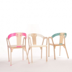 """Bakery Design explores the technique of overmolding to create flexible joints in their new furniture series """"Elastic Wood""""."""