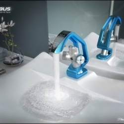 Koolhaus is a tap ware variant that integrates Bathroom water consumption information with a contemporary and functional aesthetic.
