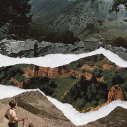 Pauline Bastard's Beautiful Landscapes, a series of collages made of recycled material