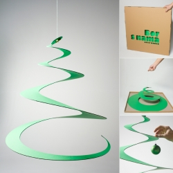 Creative Borer (auger) by  Ivan Dilberovic - Christmas tree and a modern environmental friendly design.
