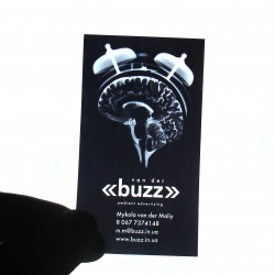 X-ray business card for ambient advertising agency...