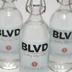 BLVD seltzer water. Clean design from KC Preslar.