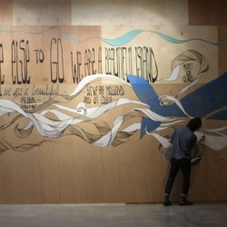 An exclusive behind-the-scenes look at the making of Brandon Boyd's first-ever mural project at Hurley's H-Space in Costa Mesa, CA.