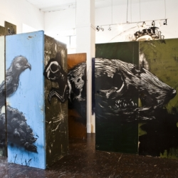 This video is genius. White Walls Gallery featuring new works by ROA. Video by Colin M Day.