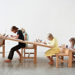 The Growth Table from Tim Durfee & Iris Anna Regn. This may be the coolest drawing table / crafting workstation I've ever seen. Of course, I may be a bit biased since it is so perfectly suited for my five children.