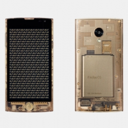 Tokujin Yoshioka designed transparent smartphone Fx0 for au by KKDI.