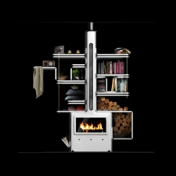 Quite an amazing and creative idea by French industrial designer Arthur Senant that actually combines everyday life conveniences with a warmth of fire, to create not just a stove but a place.